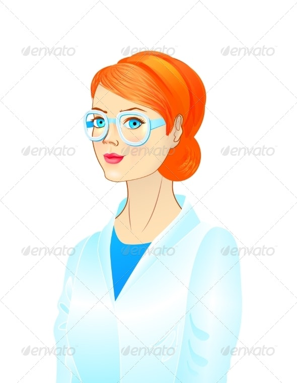 Portrait of a Female Scientist - People Characters