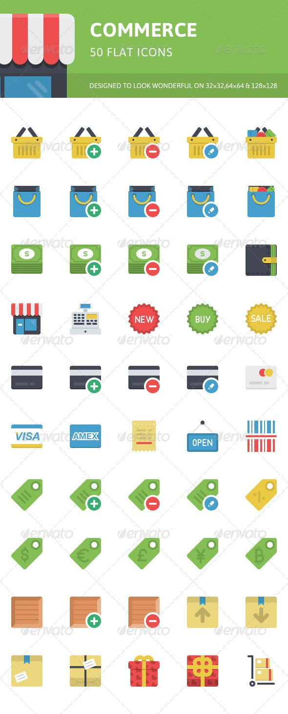 Commerce Icons - Objects Icons