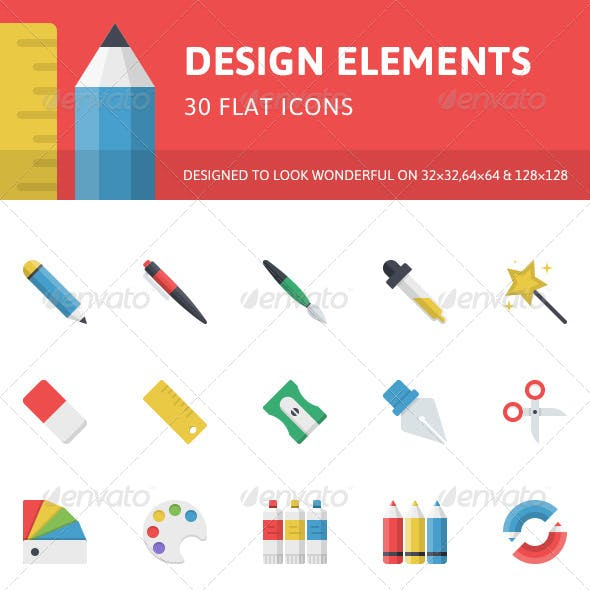 Design Elements Flat Icons