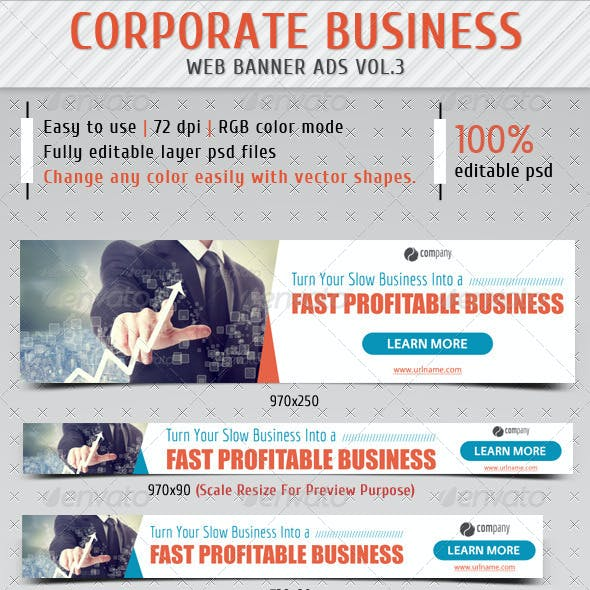 Corporate Business Web Banner Ads Vol.3