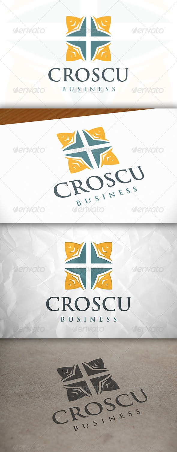 Cross Square Logo - Vector Abstract