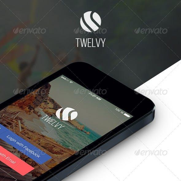 Twelvy - A Beautiful Mobile Ui Set