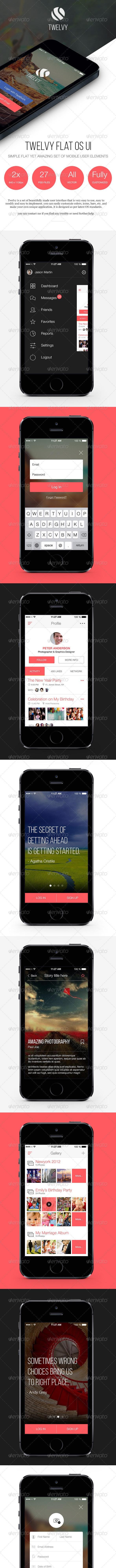 Twelvy - A Beautiful Mobile Ui Set - User Interfaces Web Elements
