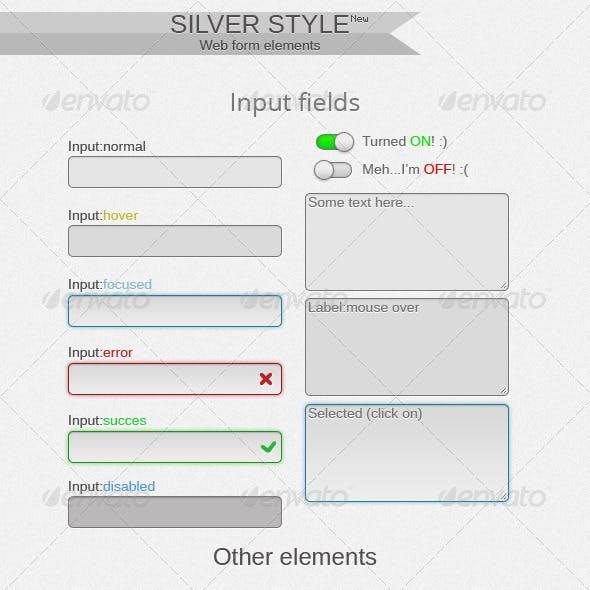 Silver Web Form Elements