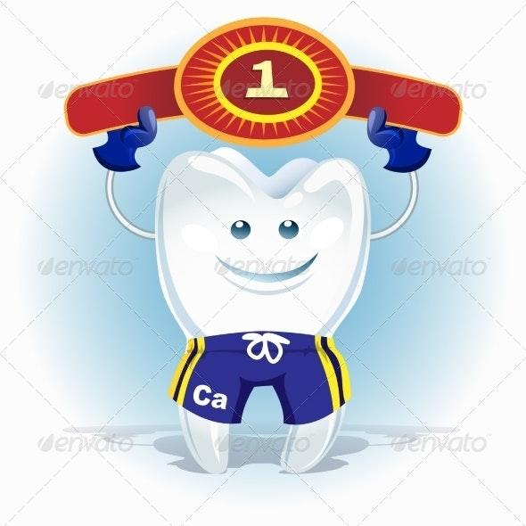 Champion Tooth - Health/Medicine Conceptual