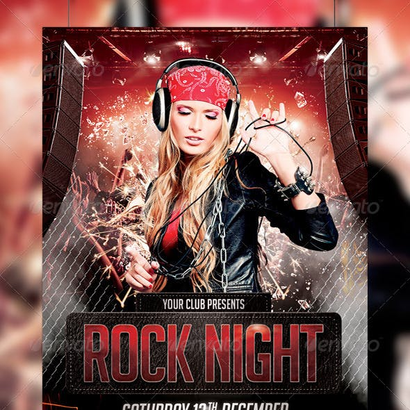 Rock Night Party Flyer Template