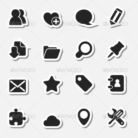 Internet Icons Set as Labels - Technology Icons