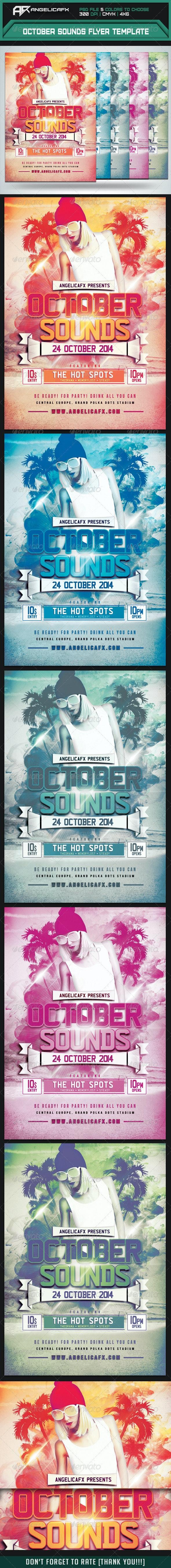 October Sounds Flyer Template - Flyers Print Templates