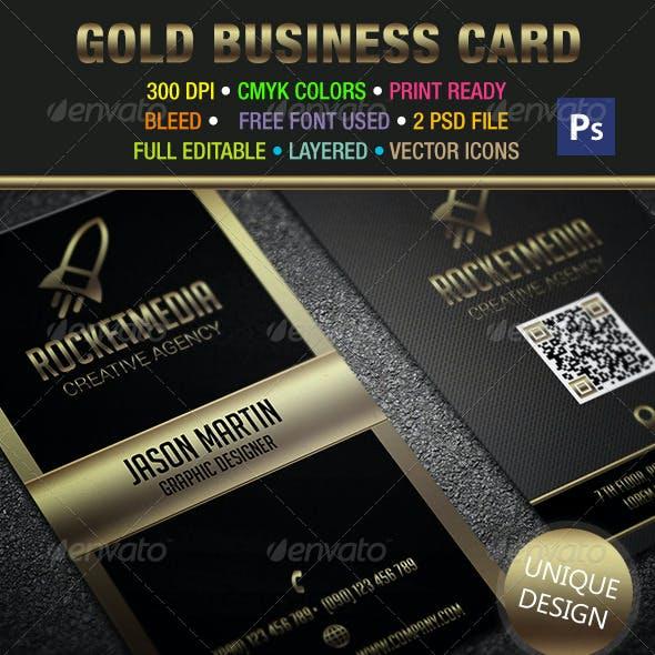 Gold & Black Business Card 302
