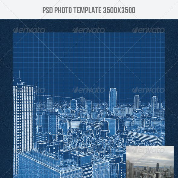 Blueprint Photo Template