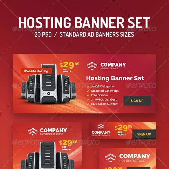 20 Hosting Banner Set