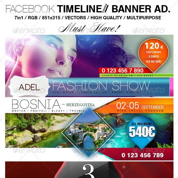 Facebook Timeline & Banner Ad. Templates