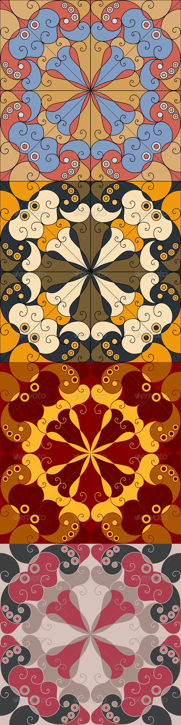 Four Abstract Backgrounds - Backgrounds Decorative
