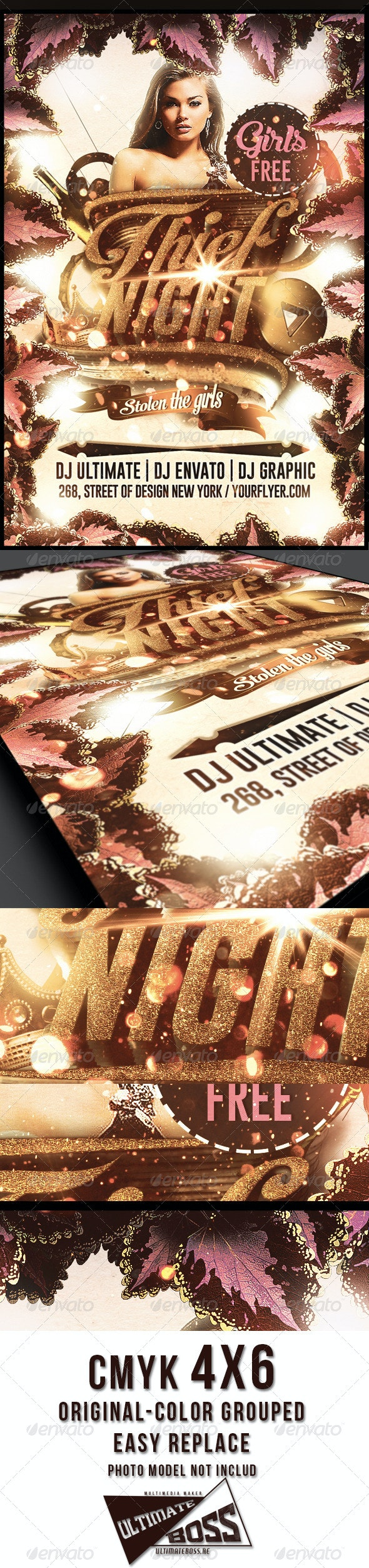 Thief Night Flyer template - Flyers Print Templates