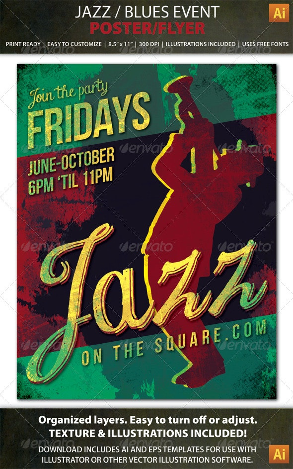 Jazz or Blues Event Poster / Flyer - Concerts Events