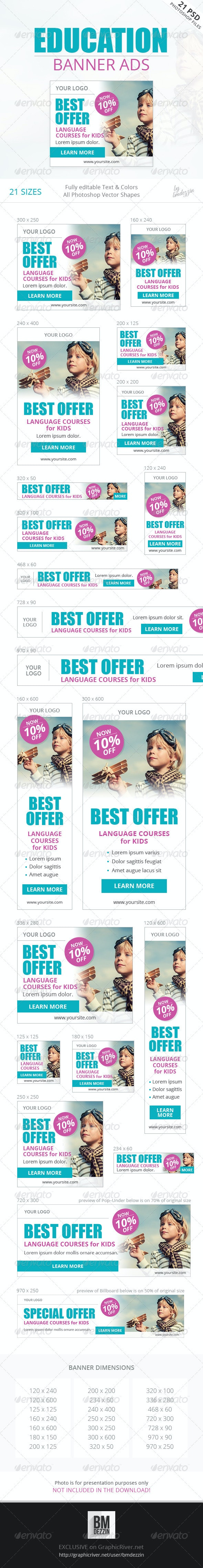 Education Banner Ads - Banners & Ads Web Elements