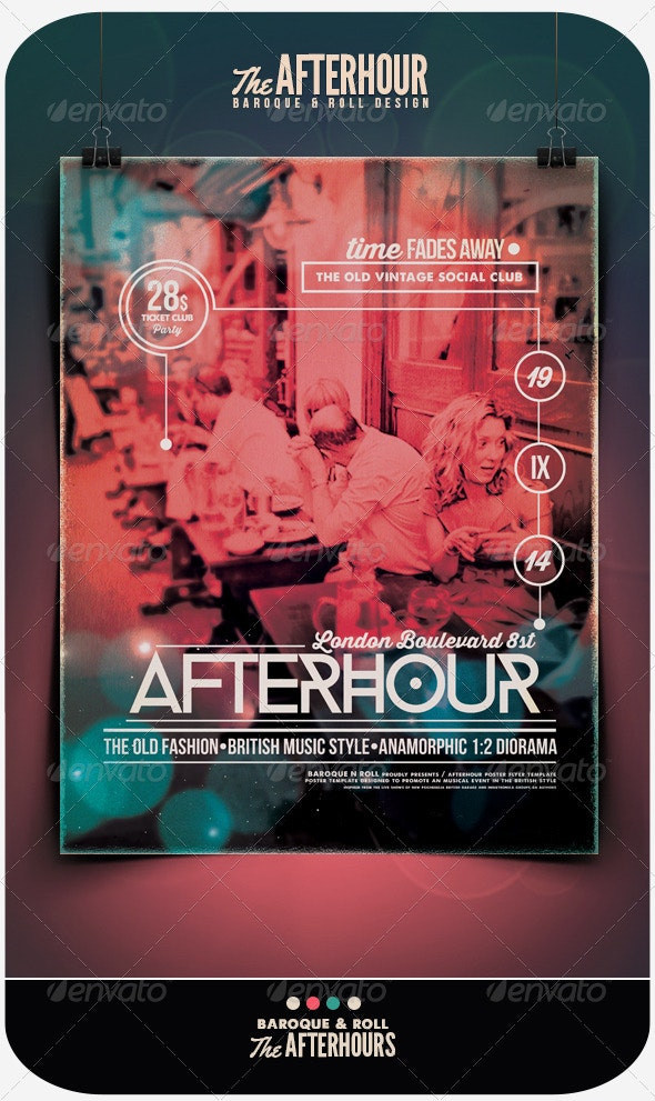 Afterhours Flyer/Poster  - Events Flyers