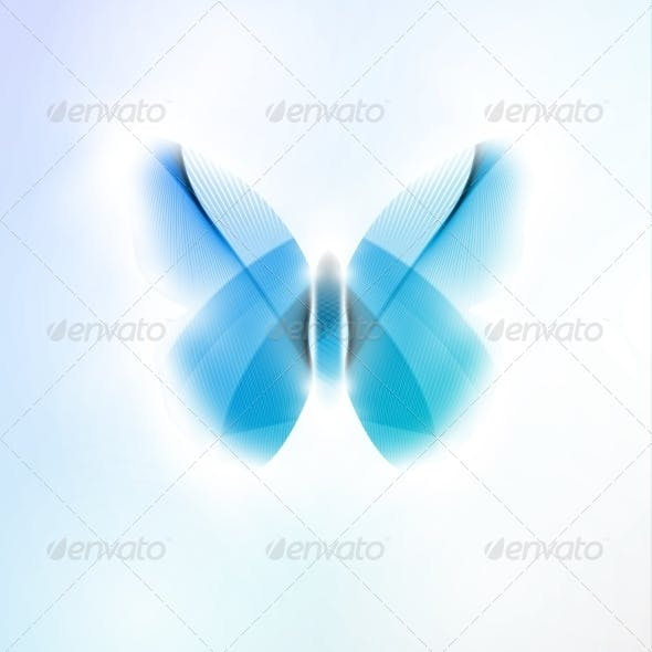 Abstract Butterfly, Futuristic Vector Illustration