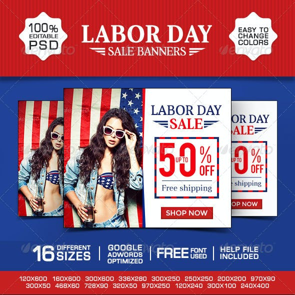 Labor Day Special Banners
