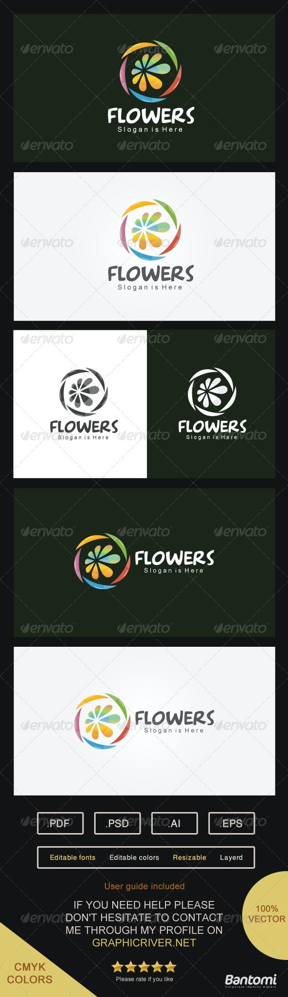 Flowers Logo - Abstract Logo Templates