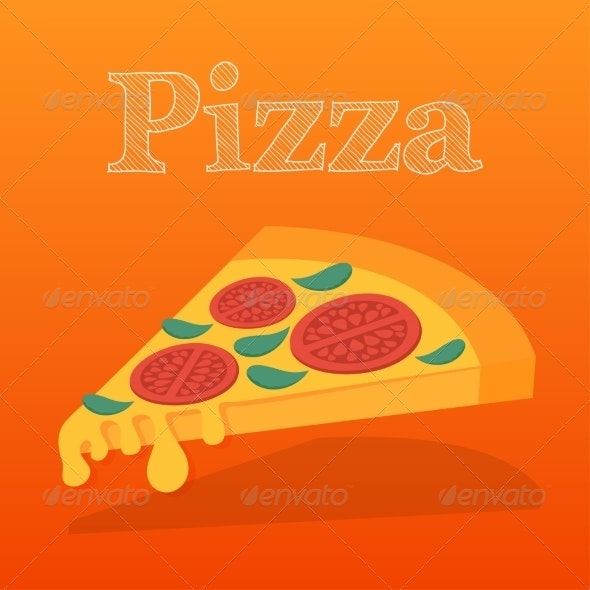 Slice of Pizza Margarita - Food Objects