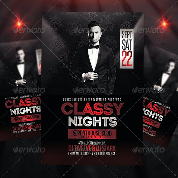 Classy Nights | Flyer + FB Cover