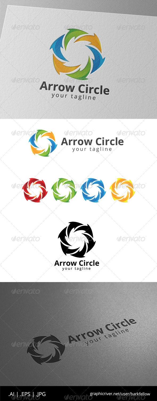 Circle Arrow Social Community - Symbols Logo Templates