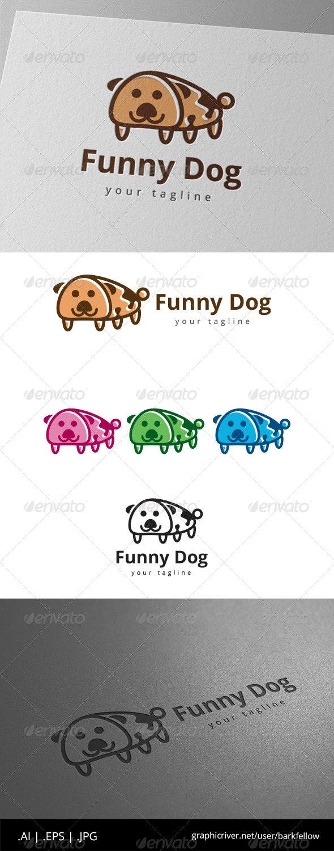 Funny Pet Dog Logo - Animals Logo Templates