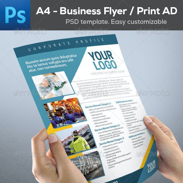Business Industrial Flyer Print AD Template