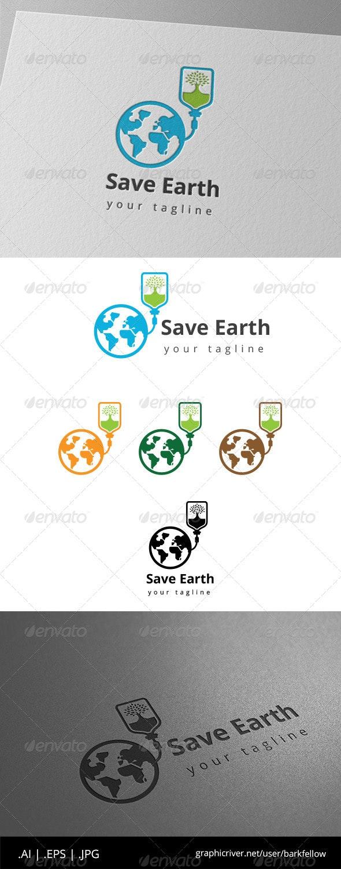 Save Our Earth Logo - Nature Logo Templates