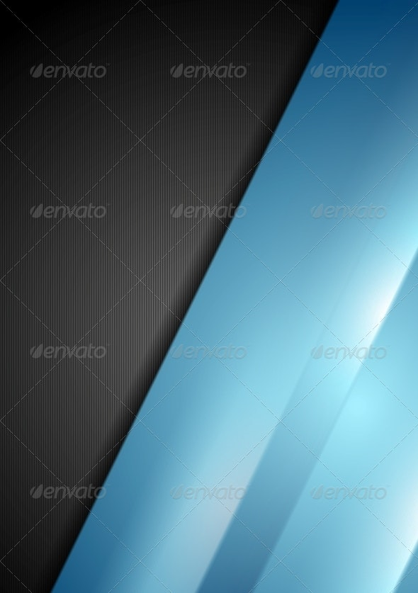 Abstract Contrast Black and Blue Background - Backgrounds Decorative