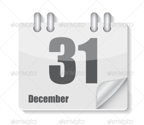 Flat Calendar Icon for Applications Vector Illustration - Web Technology