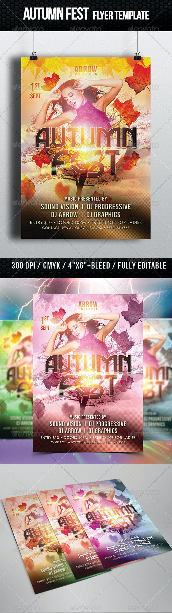 Autumn Fest Flyer Template - Clubs & Parties Events