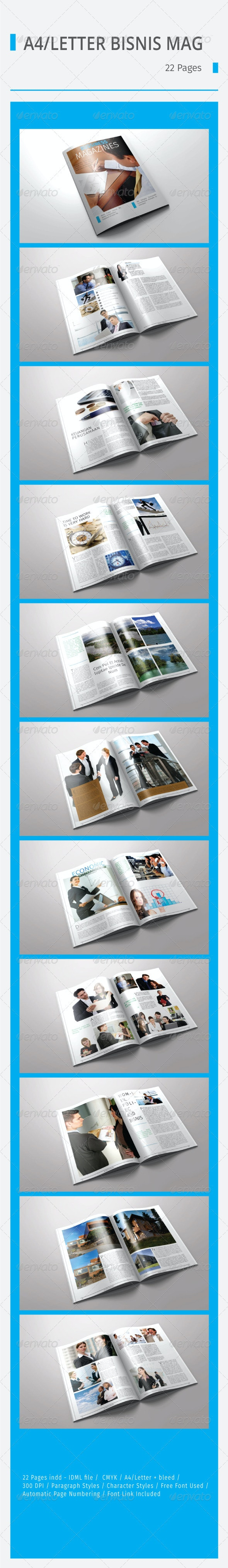 A4 / Letter Bussiness Magazines - Magazines Print Templates