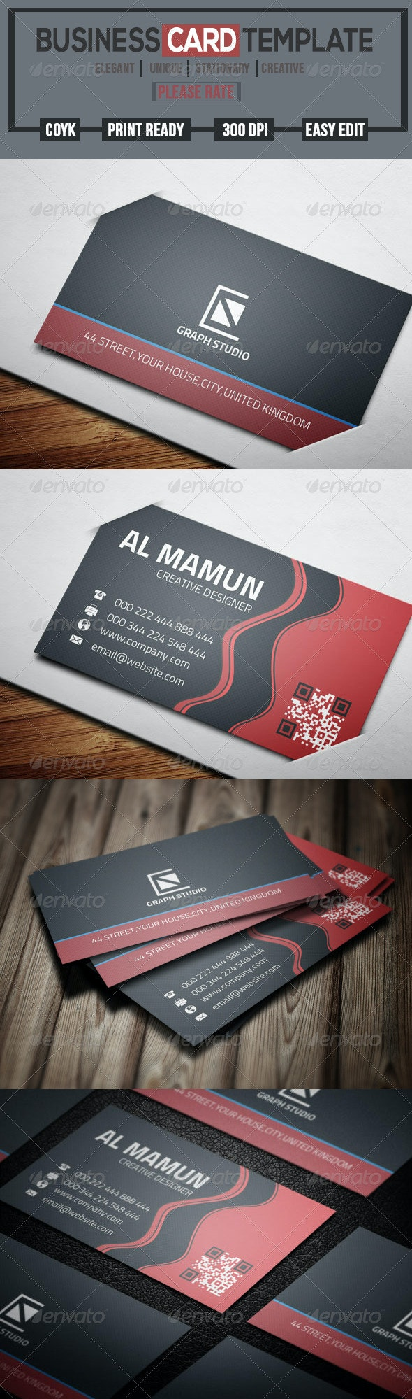 Red Creative Business Card - Creative Business Cards