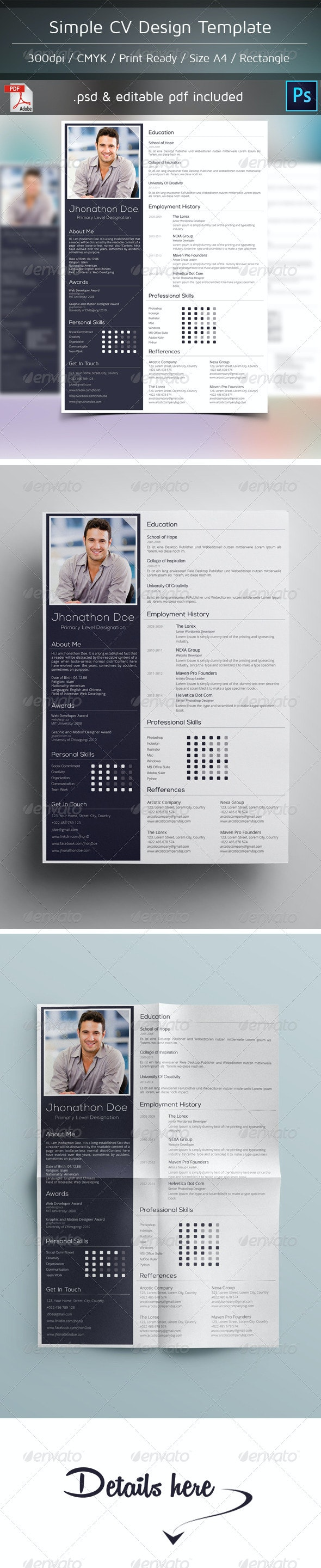 Simple Cv Design - Resumes Stationery