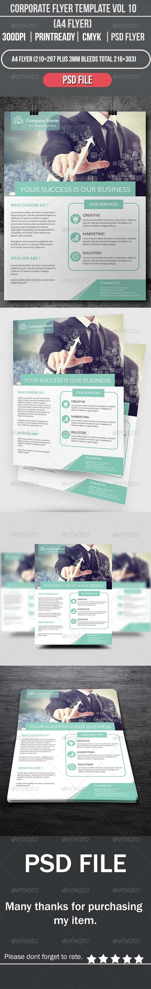 Corporate Flyer Template Vol 10 - Corporate Flyers