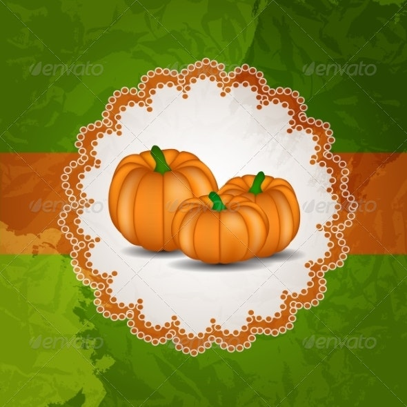 Orange Pumpkin  Background - Halloween Seasons/Holidays