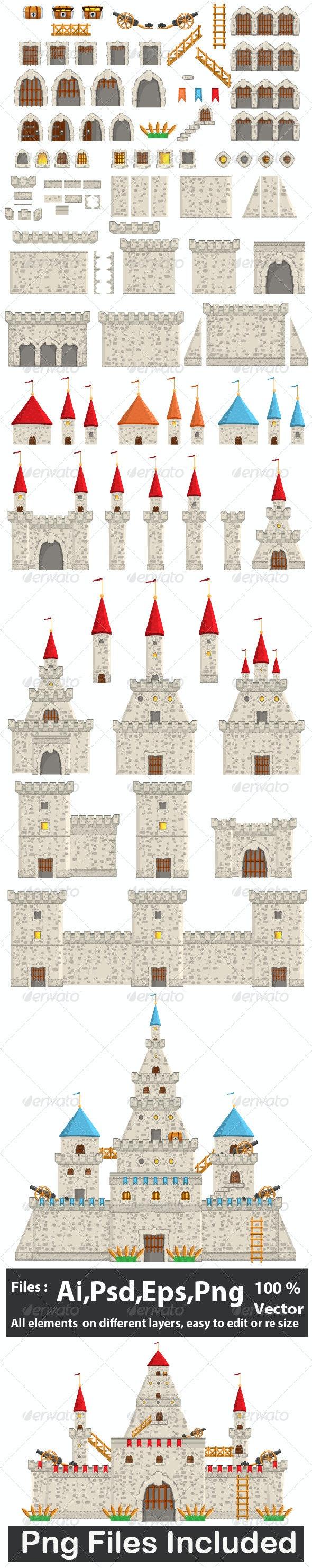 Antique Constructions Builder - Buildings Objects