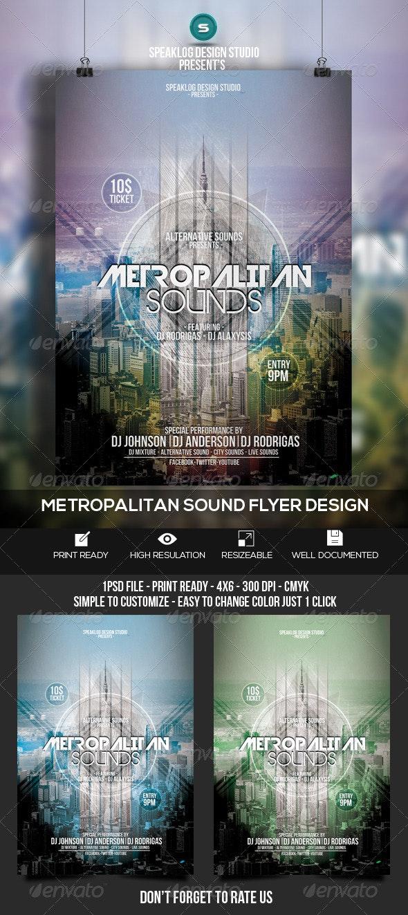 Metropolitan Sounds Flyer Design - Clubs & Parties Events