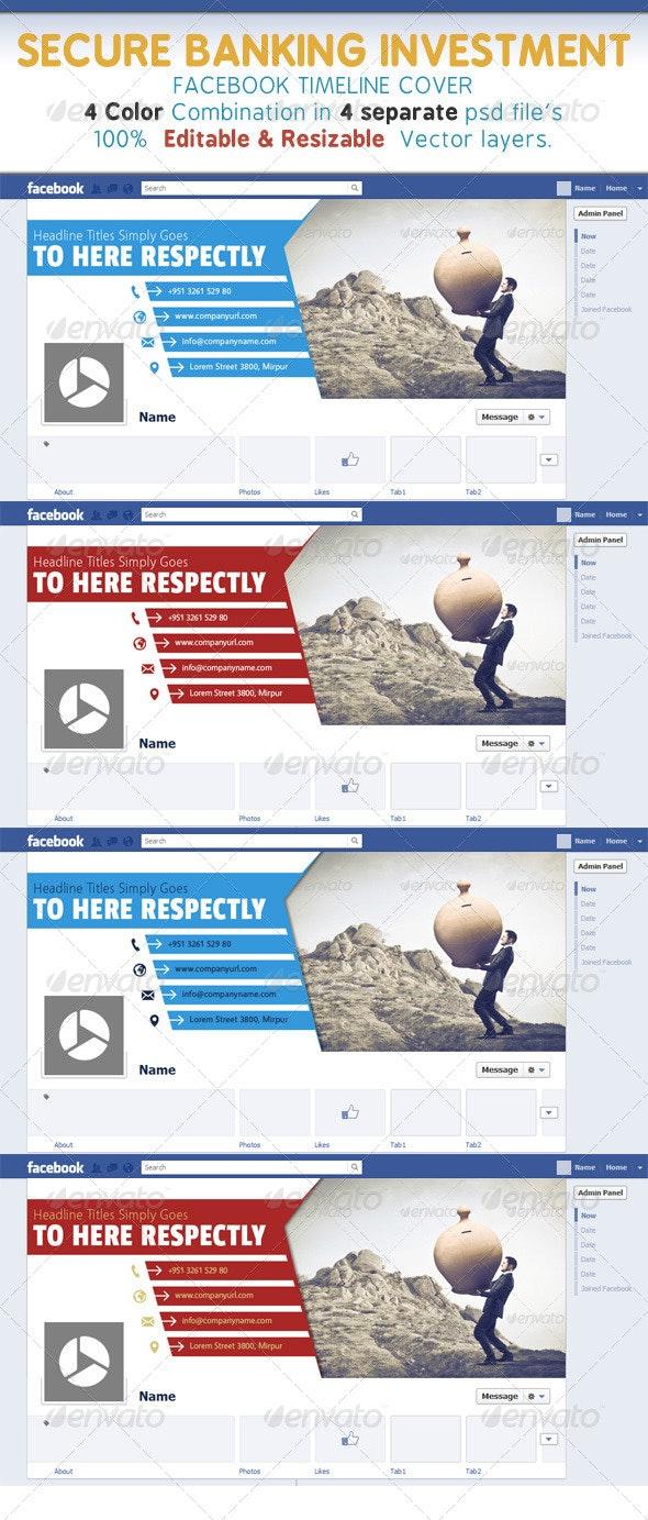 Secure Banking Investment Timeline Cover - Facebook Timeline Covers Social Media