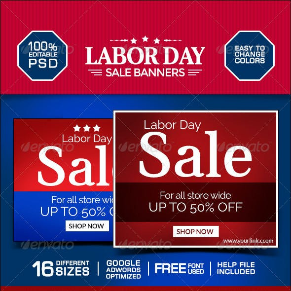 Labor Day Marketing Banners