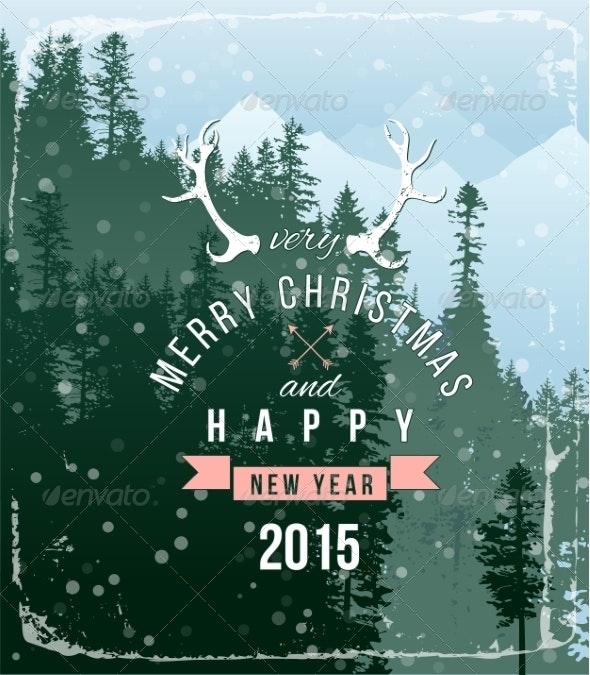 Landscape with Christmas Type Design - Christmas Seasons/Holidays