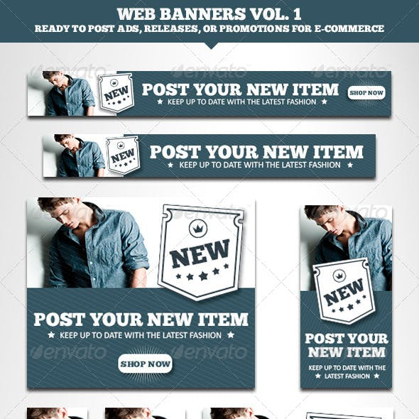Web Banners E-commerce Vol. 1