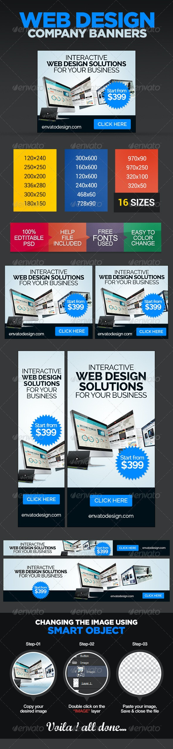 Design Company Banner Ads - Banners & Ads Web Elements