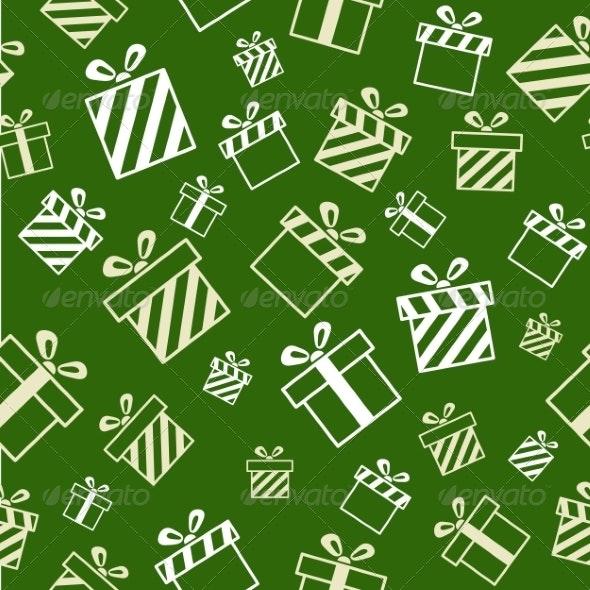 Seamless Gift Pattern - Christmas Seasons/Holidays