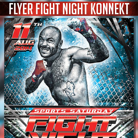 Flyer Fight Night Konnekt
