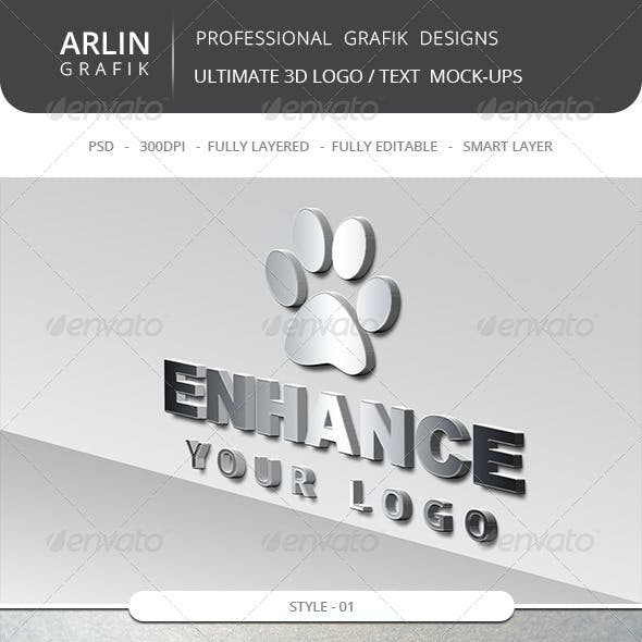 Ultimate 3D Logo Mockups