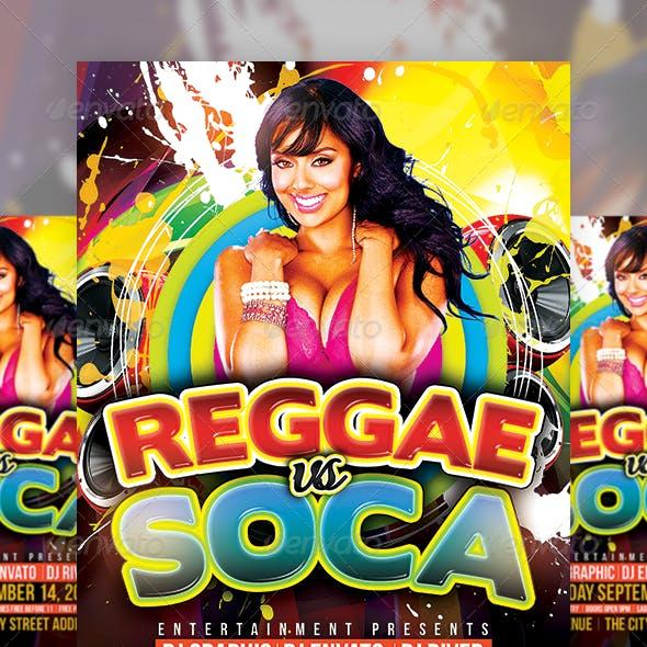 Reggae vs Soca Party