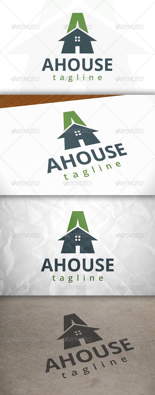 A Letter House Logo - Letters Logo Templates